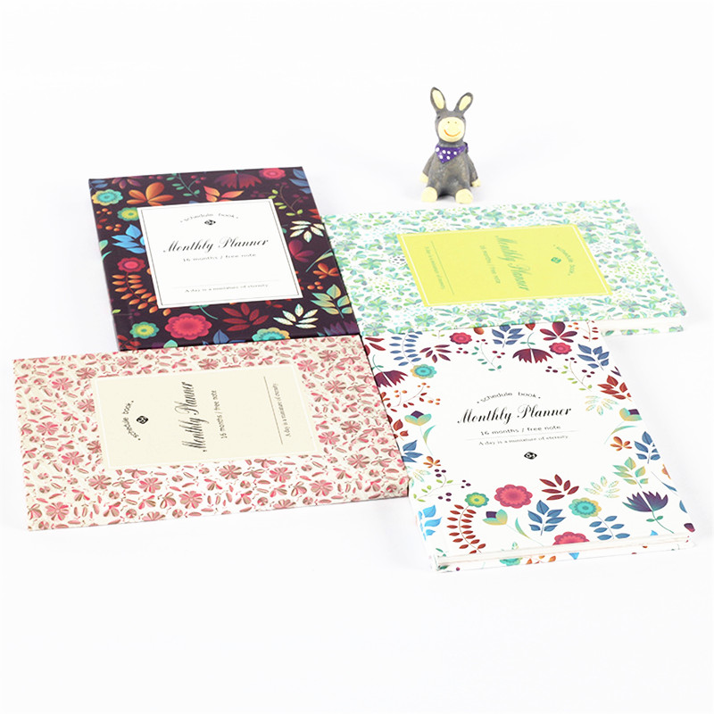 Fromthenon Lovely Floral Monthly Planner 2019 Notebook Schedule Book Agenda Organizer Office & School Supplies Stationery Store kicute pu leather cover floral flower schedule book diary weekly monthly planner organizer notebook office school stationery
