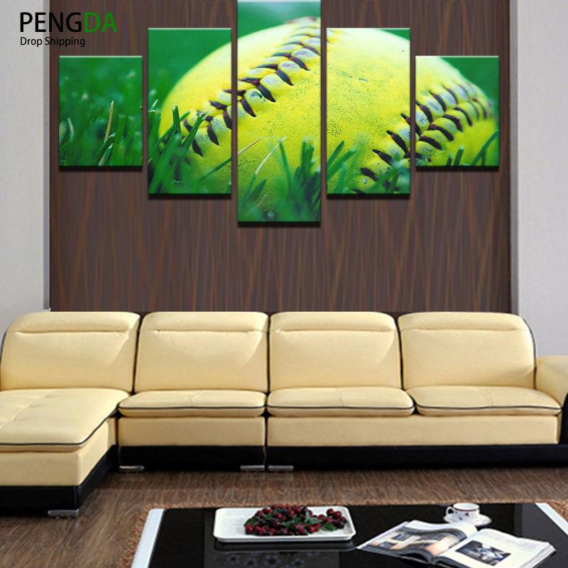 Huile Toile Peinture Photo Wall Art Dcoration De La Maison Pices Tennis De  Sport Boule Pour Salon Moderne Impression Type Pe With Type De Peinture Pour  ...