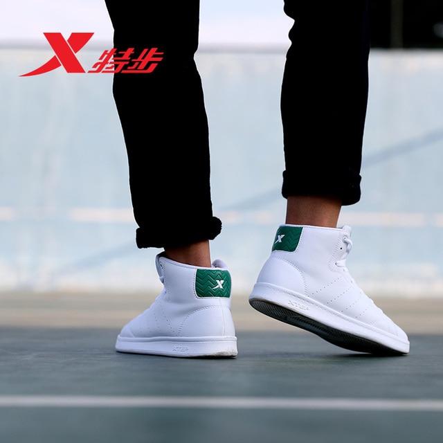983319319257 Китай XTEP оригинальный Высокое качество баланс спорта Для мужчин белый скейтборд обувь