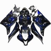 Nn CBR 600 RR 2009 2012 Bodywork CBR600 RR 2012 Blue flames black Abs Fairing for Honda CBR600RR 2009 Fairing Kits
