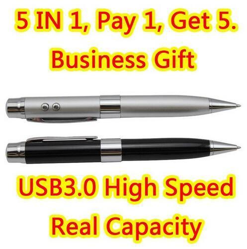 Vendas Hot 32 GB 64 GB 128 GB 256 GB 512 GB USB 3.0 Flash Usb unidade 5in1 Metal Moda Mini Chave Memory Stick Pendrive Cartão de Memória Flash presente