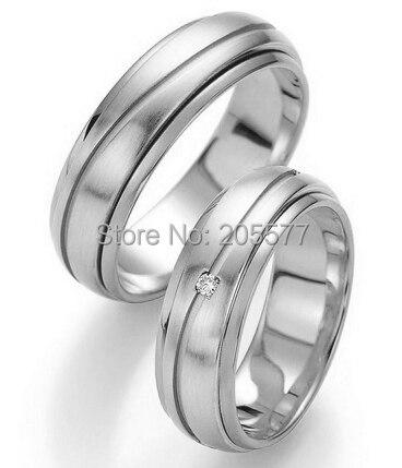 2014 style européen personnalisé santé titane mariage couples anneau couleur or blanc