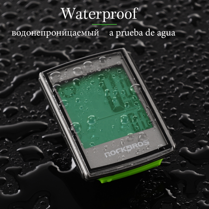 ROCKBROS Waterproof Bicycle Computer LCD Backlight MTB Road Bike Computer Speedmeter Stopwatch Cycling Odometer Accessories