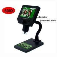 Caméra de microscope vidéo à souder numérique G600 600X microscope électronique USB 4.3 pouces caméra grossissante d'endoscope lcd + LED