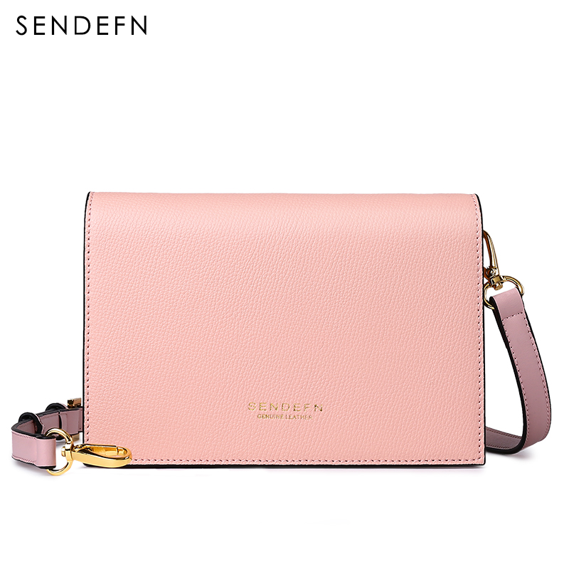 SENDEFN 2017 Small Crossbody Bag Split Leather Women Bag New Female Bag Brand Handbag Quality Women Messenger Bags For iPhone 7S lacattura small bag women messenger bags split leather handbag lady tassels chain shoulder bag crossbody for girls summer colors