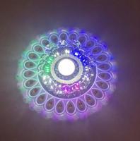 Yeni Modern Kristal LED Tasarrufu Verimli Tavan Mavi çiçek ışık Üstün lamba aksesuarı Moda Avize