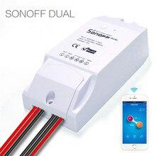 ITEAD sonoff двойной 10A/Pow 16a Смарт Wi-Fi Беспроводной домашней автоматизации с Мощность потребление Управление через IOS Andriod телефон