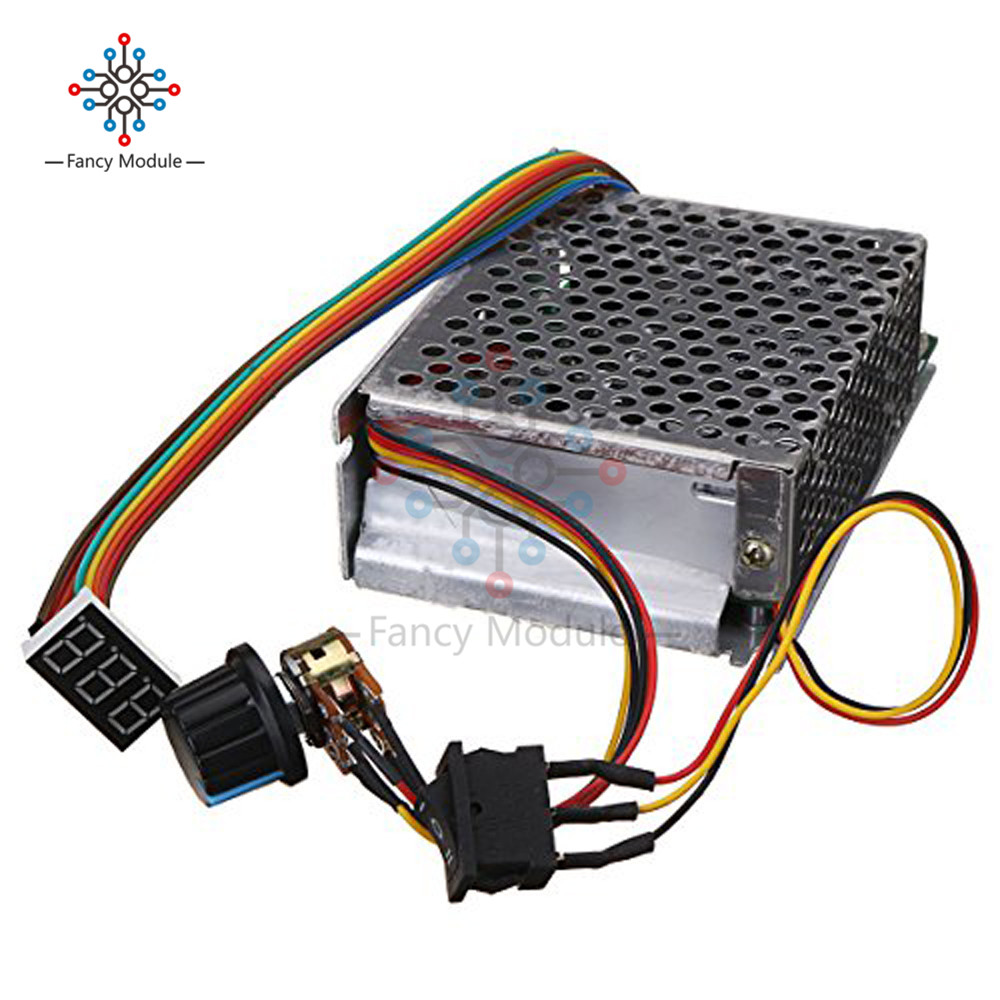 PWM DC 10-55V 60A Adjustable DC Motor Speed Controller LED Digital Display Motor Speed Regulator Reversible Potentiometer SwitchPWM DC 10-55V 60A Adjustable DC Motor Speed Controller LED Digital Display Motor Speed Regulator Reversible Potentiometer Switch