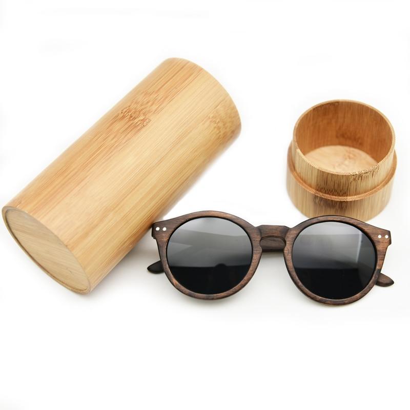 2018 Dames Heren Cateye Houten Zonnebril Vintage ronde zonnebril - Kledingaccessoires - Foto 6