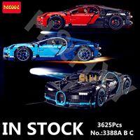 DECOOL Chiron Car bugattied 3625Pcs 3388 Creator Racing Compatible 42083 Model Building Blocks Bricks Toy legoings Technic