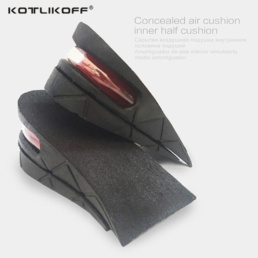 2 rétegű 5CM magasságnövelő talpbetét állítható ergonómiai kialakítás Légpárna láthatatlan emelőpadok cipők férfiak számára