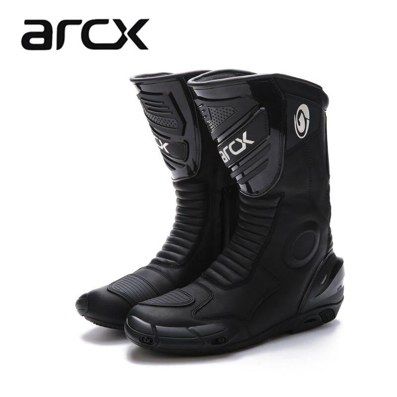 Wie-ja ARCX männer motorradstiefel professionelle motorcross racing stiefel winddicht freies verschiffen der schuhe schwarz farbe