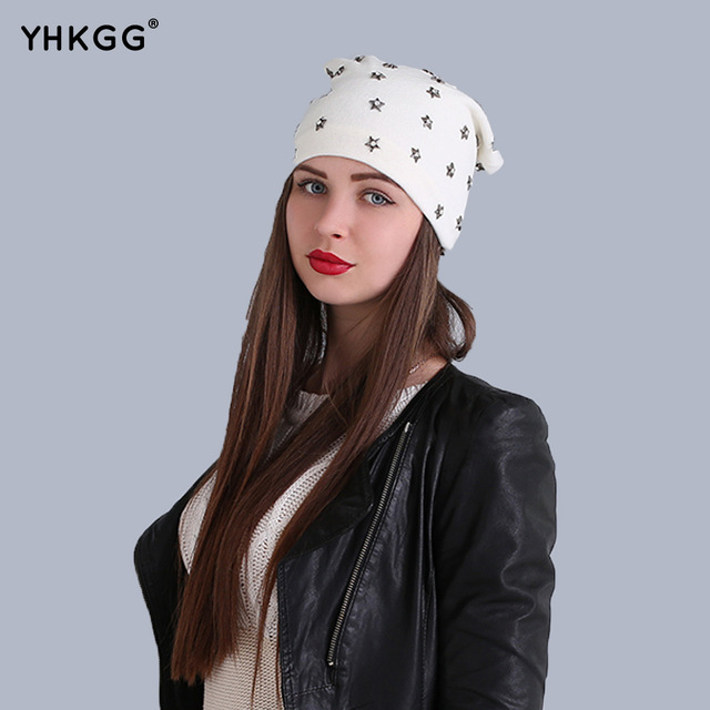 2016 the trend of street fashion star ear cap lovely naughty wool hat the latest fashion, warm and beautiful