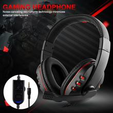 Senstive Gaming Headset For Gamer Wired Stereo Sound Noise Cancelling Headphone For Computer Mobile Phone Xbox One With Mic ttlife led gaming headset bass surround stereo wired headphone noise cancelling voice control with mic for pc computer gamer