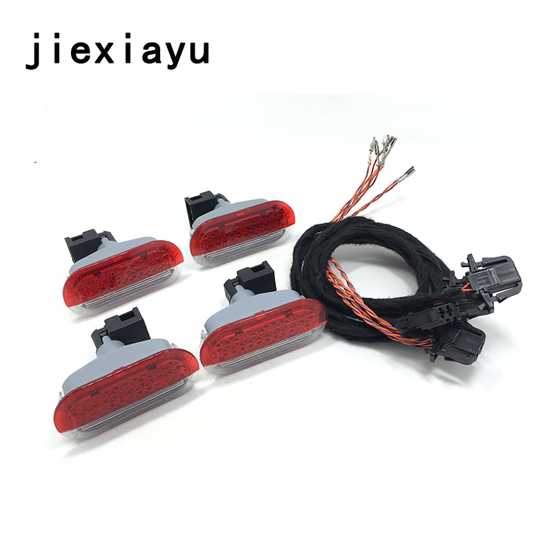 1SET Door Alarm Lamp Light Red WIth Lamp-socket Lamp holder Fit For VW Beetle Golf Jetta 6Q0 947 411 6Q0 947 411 A 1J0 947 411 E jeazea glove box light storage compartment lamp 1j0947301 1j0 947 301 for vw jetta golf bora octavia 2000 2001 2002 2003 2004
