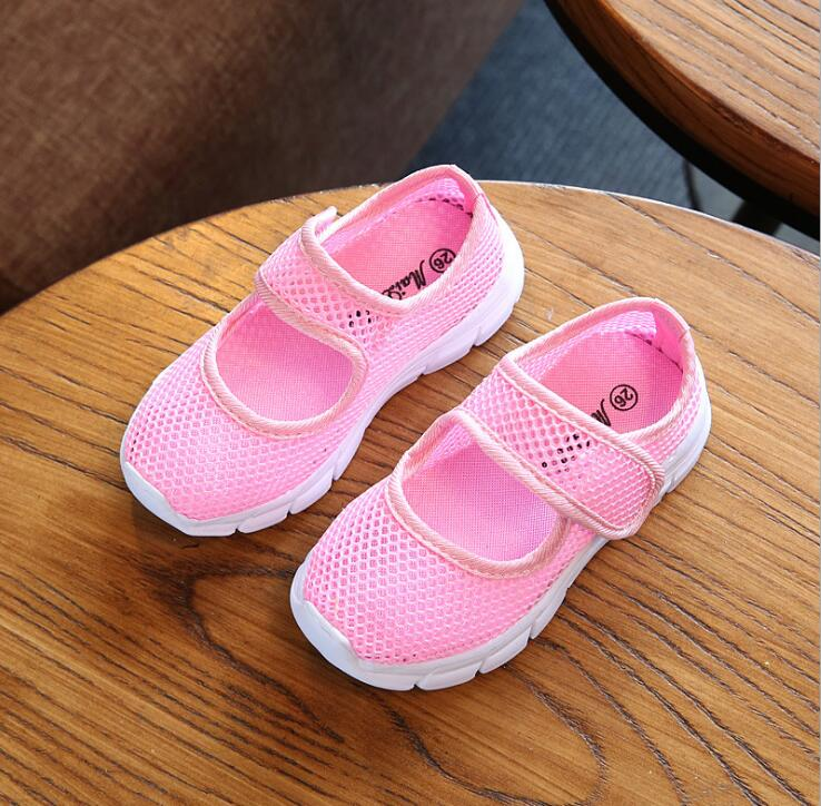 Candy-colored children breathable casual shoes 2018 spring summer flat boys and girls sports shoes students outdoor sneakers