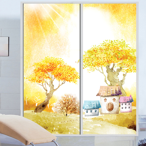 Static Cling Or Self Adhesive Film For Window Stained Opaque Glass