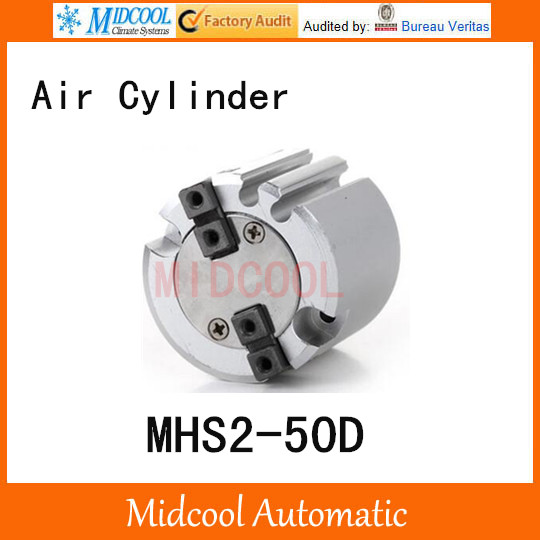 MHS2-50D double acting pneumatic cylinder gripper pivot gas claws parallel air 2-fingers SMC type cylinder high quality double acting pneumatic air cylinder gripper mhc2 10d smc type angular style aluminium clamps