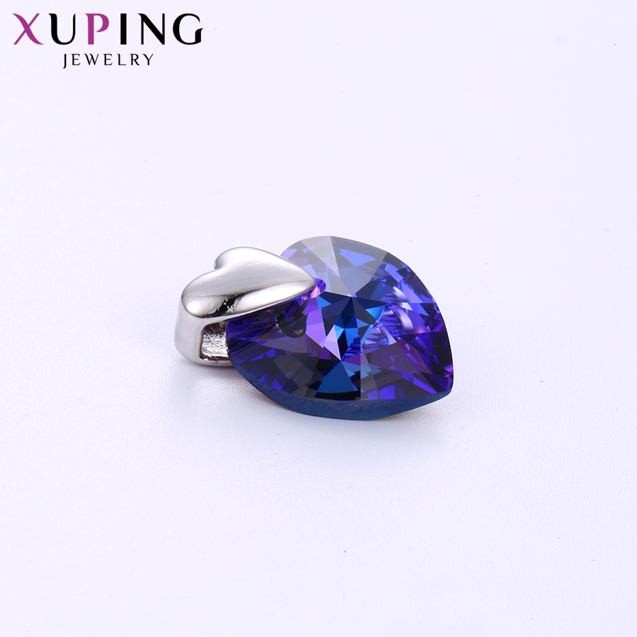 Xuping Pendant Necklaces Jewelry Heart Shaped Crystals from Swarovski European Style for Women Gifts S141 3 33697 in Pendants from Jewelry Accessories