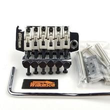 Wilkinson Cấp Phép 6 Dây Đàn Guitar Điện Khóa Đôi Tremolo Hệ Thống Cầu 42Mm R2 Hạt Chrome Bạc Đen WODL1