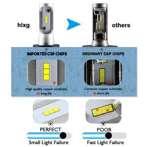 Image 2 - Hlxg 2 adet CSP H8 H11 lamba H4 Led H7 H1 H3 araba kafa lambası ampulleri otomatik S1 N1 H27 881 HB3 HB4 otomotiv 12V 50W 8000LM 6000K