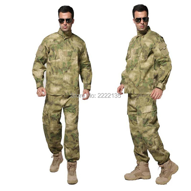 Tactical Military Camouflage Combat Uniform Us Army Airsoft Camo BDU waterproof  men clothing set Outdoor Hunting suits FG