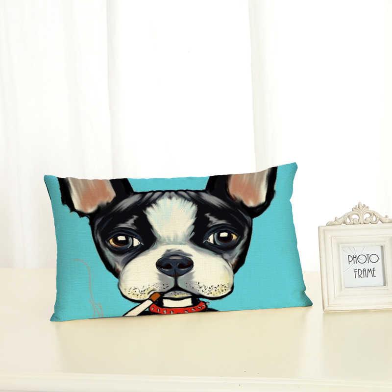สุนัขคุณภาพสูง Housewear Lumbar หมอนเก้าอี้เบาะรองนั่งหมอนนุ่ม Cojines Almofadas ฝ้าย Linen สแควร์ 30x50