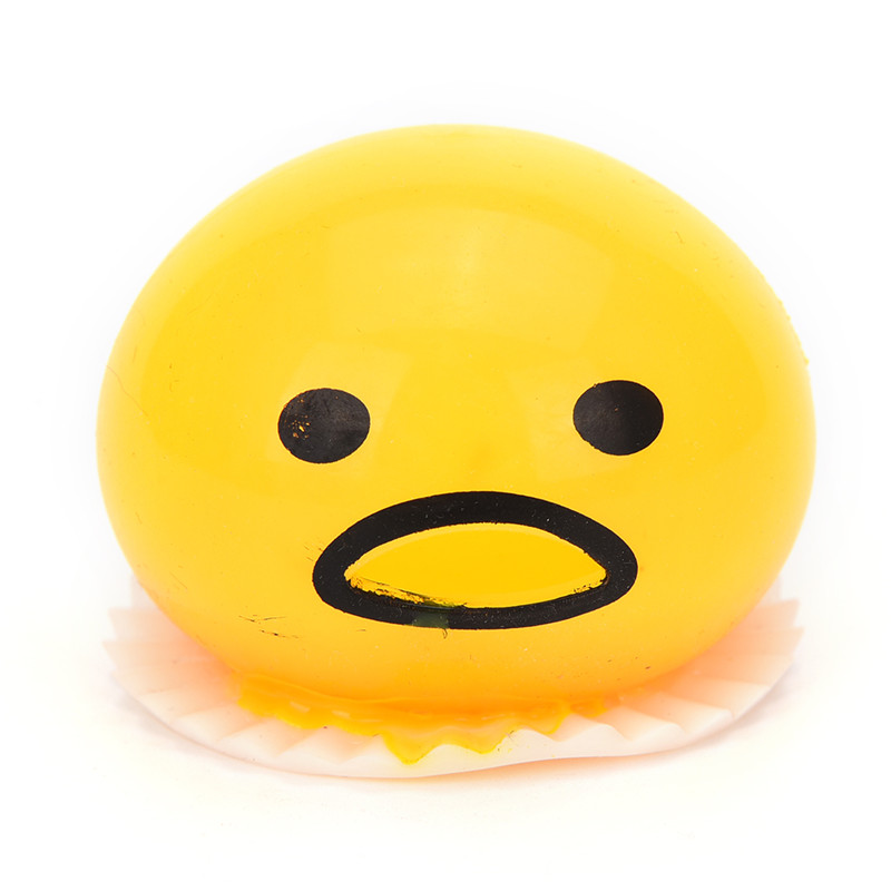 New Sale Squishy Vomitive Egg Yolk Anti Stress Reliever Fun Gift Yellow Lazy Egg Joke Toy Ball Egg Squeeze Funny Toys AntiStress