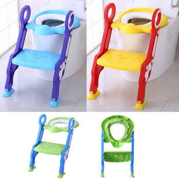 Baby Toddler Potty Toilet Trainer Safety Chair Step with Adjustable Ladder Infant Toilet Folding Portable WC Toilet For Dropship baby toddler potty toilet trainer safety seat chair step with adjustable ladder infant toilet training non slip folding seat