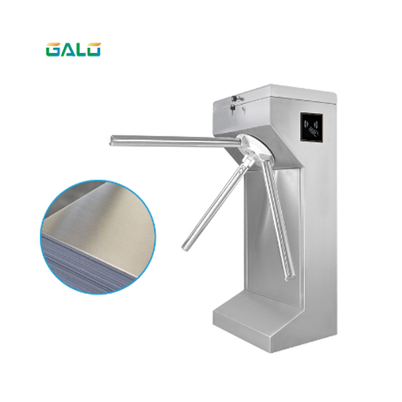 Comercial business district building tripod turnstile accessComercial business district building tripod turnstile access