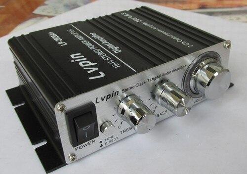 Noir LPVIN LV-2020A + 2*20 W Salut-fi Numérique Mini Audio Stéréo Accueil Voiture Amplificateur Tripath TA2020 Avec/sans adaptateur
