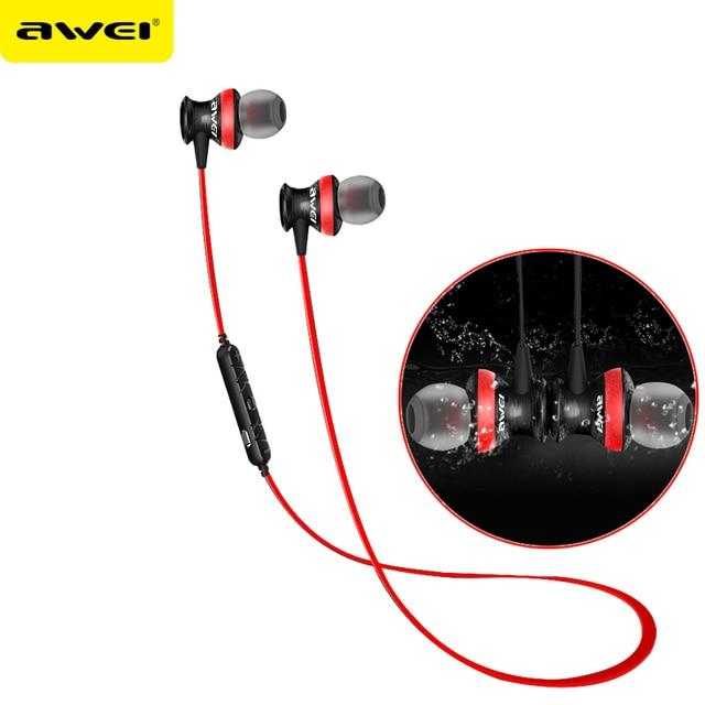 A980bl awei fones de ouvido bluetooth sem fio fone de ouvido fone de ouvido auriculares fones de ouvido com microfone para iphone xiaomi