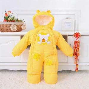 Image 4 - Baby Clothes Winter Autumn Style Newborn Baby Rompers New Cotton padded Baby Boys Girls Jumpsuits Cartoon Infant Overalls