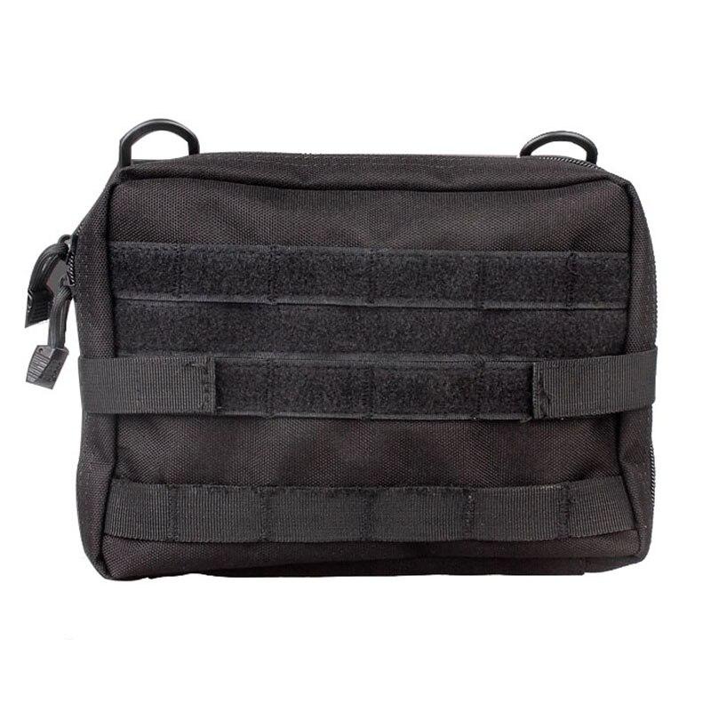 Spor ve Eğlence'ten Güvenlik ve Hayatta Kalma'de Molle kılıfı naylon siyah taktik çantası büyük dergi organizatör yardımcı telefon tıbbi bel çantası EDC Molle torbalar title=