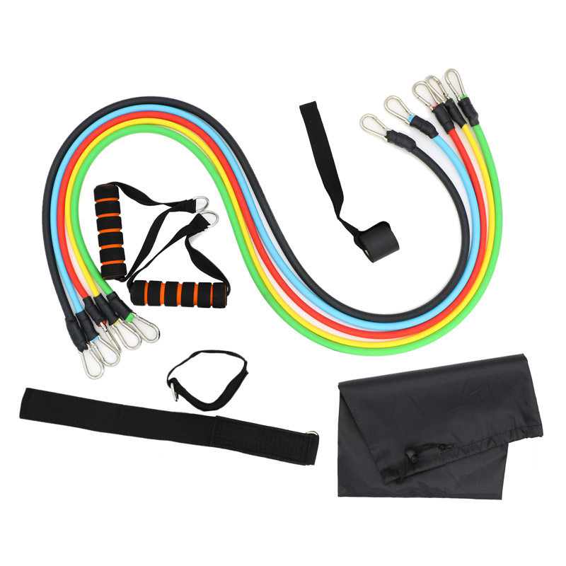 11 Pcs//Set Latex Resistance Bands Crossfit Training Exercise Tubes Pull Ropes