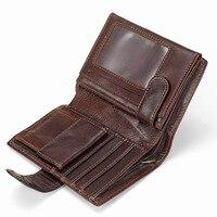Бумажник для мужчин baellerry масло воск Воловья кожа натуральная кожа кошельки портмоне клатч из искусственной кожи Открытый Высокое качество...