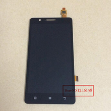 BLACK WHITE High Quality Full LCD Display Touch Screen Digitizer Assembly For Lenovo A536 with LOGO