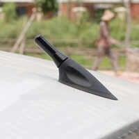 Universal Mini 3,5 cm Antena de coche de fibra de carbono Radio Antena aérea mástil corta y ancha Antena de coche para BMW Audi