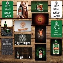 [WellCraft] Jagermeiter Metal TIN SIGN Decor para Bar Hotel Vintage Mural Pintura FG-203
