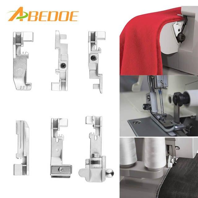 ABEDOE 6pcs Serger overlock Presser Foot Accessory for Singer 14CG754  14SH654 14U555 Consew 14TU 14hd854 Juki Machine