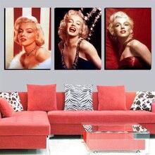 3 Шт. / Компл. Home Decor Мэрилин Монро Холст Wall Art Painting Современные Реалистичные Картины