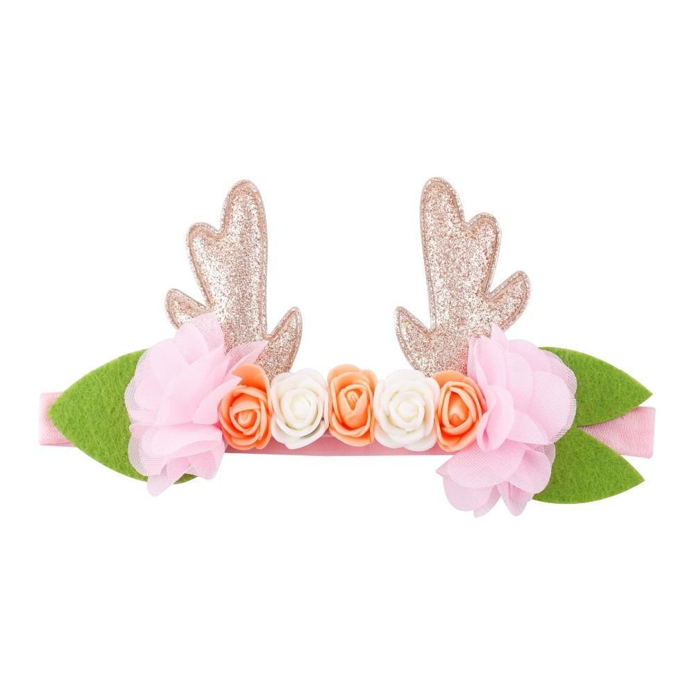 Antlers Rabbit Cat Ear Hair Band Headbands Flower Crown Elastic