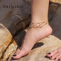 New Arrival Gold Anklet For Women Foot Bracelet Leg Chain Sexy Handmade Beaded Toe Ring Beach
