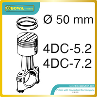 S4 cylinder Dia.50mm piston with connection rod complete for 5HP and 7HP bitzer compressor