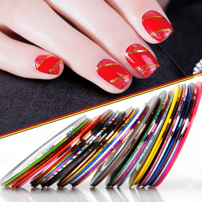 WiRinef 10 рулонов матовый блеск ногтей чередование ленты металлическая нить линия