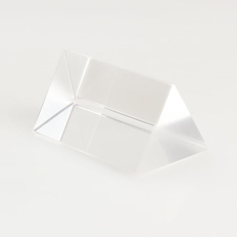 5 cm Verre Optique Triple Prisme Triangulaire Lunette D'expérimentation en Physique LB88