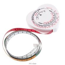 Serce BMI ciało indeks masy miarka i kalkulator umięśnione ciało dieta utrata masy ciała New Arrival tanie tanio OOTDTY Obróbka metali 1 5 M Z tworzywa sztucznego