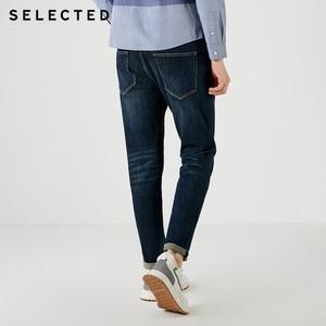 Image 4 - Выбранные мужские джинсы из лайкры легкий стрейч винтажный Тонкий Осень и зима подходят джинсовые брюки уличная эффект усов S