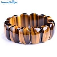 Wholesale JoursNeige Natural Yellow Tiger Eye Stone Bracelets Energy Stone Bracelets for Men Hand Row Crystal Bracelet Jewelry