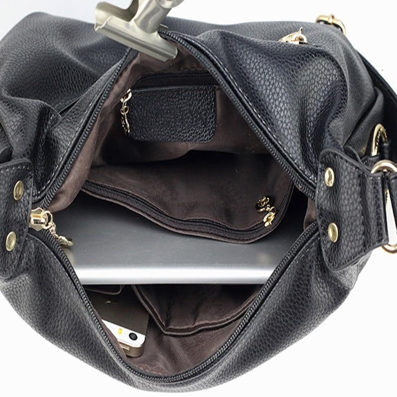 Señoras de la moda bolsos de cuero Tote bolsas de hombro para las - Bolsos - foto 6